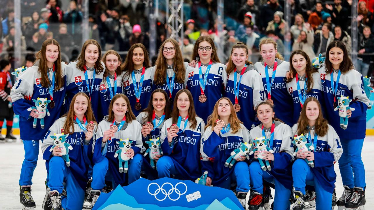 Historic win of Slovakia's U16 women's ice hockey team in the Youth Olympic Games with an amazing performance of our Nina Hudáková